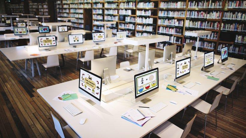 Bagaimanakah rupa perpustakaan sekolah pada tahun 2X50?